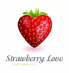 strawberry love vector image vector image