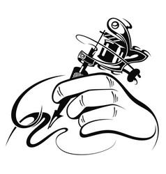 tattoo artist vector image