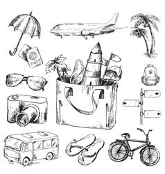 Travel set vector image vector image