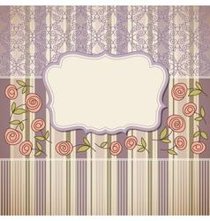 vintage backgroundgreeting card or invitation vector image vector image