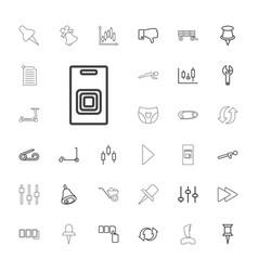 33 push icons vector