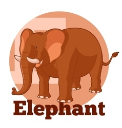 ABC Cartoon Elephant2 vector image vector image