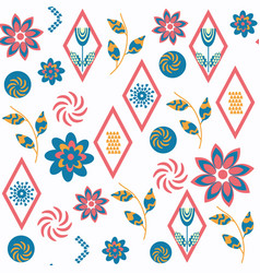 abstract floral seamless pattern in it is vector image