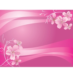Abstract pink background with flower vector