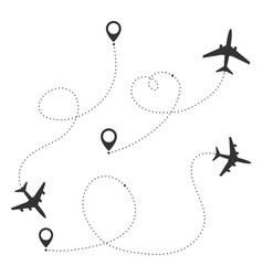 airplane travel concept vector image