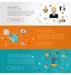Architect banner set vector image