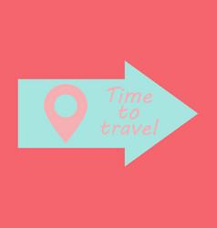 Arrow location icon pin sign navigation map gps vector