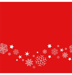 Background snowflakes vector image