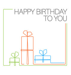birthday minimalistic card template vector image