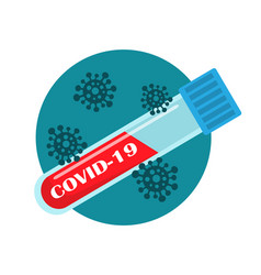 blood test for virus and infection vector image