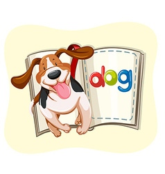 Book of little dog vector