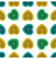 Buttons sewing silhouette set seamless pattern vector image