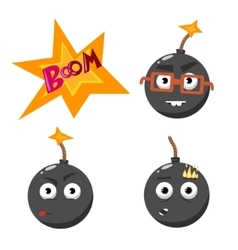 Cartoon bomb set 2 vector