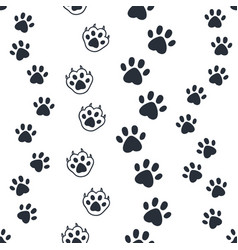 cat paw pattern seamless dog foot print wild vector image