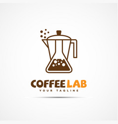 Coffee lab logo vector