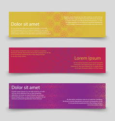 Colorful banners template banners with abstract vector