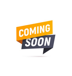 Coming soon isolated icon paper style vector