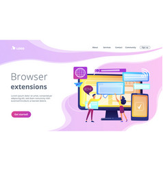 cross-browser compatibility concept landing page vector image