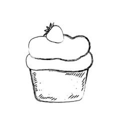 cupcake sweet dessert vector image