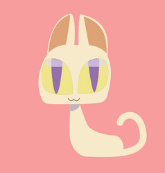 Cute kitty and cat characters design vector