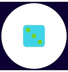 dice 3 computer symbol vector image