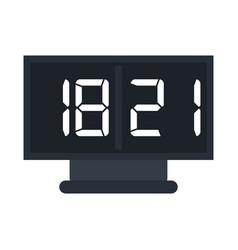 Digital alarm clock icon image vector