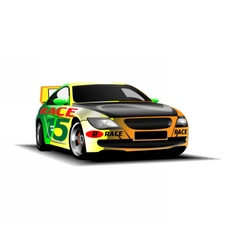 Digital colored sport race car vector image