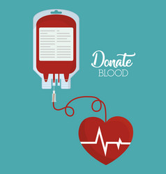 Donation blood design vector