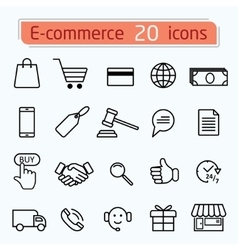 E-commerce vector image
