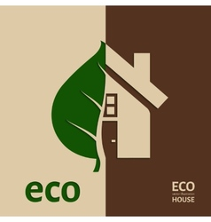 Eco House EPS 10 vector image