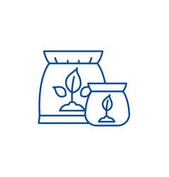 fertilizer line icon concept fertilizer flat vector image