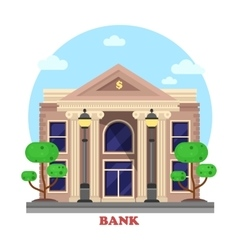 Financial building or bank architecture exterior vector image