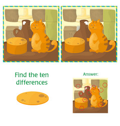 finding differences educational task for preschool vector image