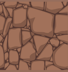 Flat seamless stone texture brown stones vector