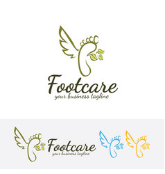 foot care logo design vector image