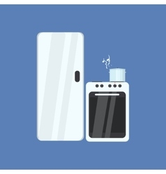 Fridge And Stove vector