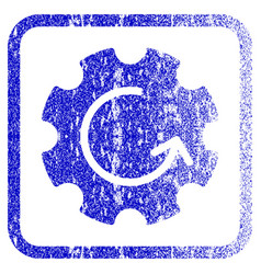 Gear rotation framed textured icon vector