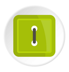 Green square clothing button icon circle vector