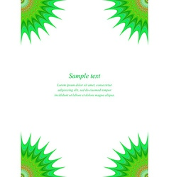 Green star page corner design template vector image