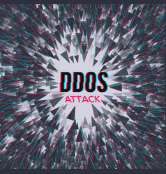 Hacker ddos attack on abstrackt background vector