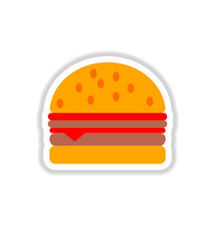 Hamburger icon burger sticker vector