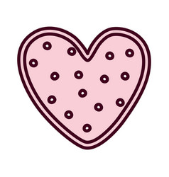 happy valentines day pink dotted heart romantic vector image