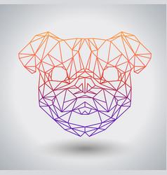 Hipster polygonal animal pug-dog triangle animal vector