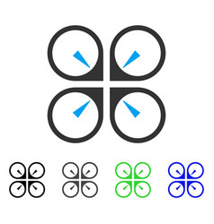 Hover drone flat icon vector