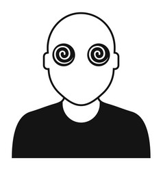 Hypnosis pacient eyes icon simple style vector
