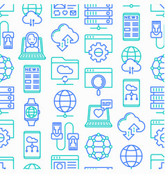 Information technology seamless pattern vector