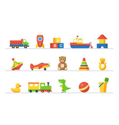 kid toy to play game in preschool group set vector image