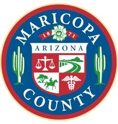Maricopa county seal vector