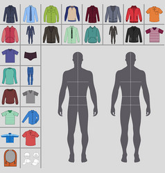 Mens clothing set vector