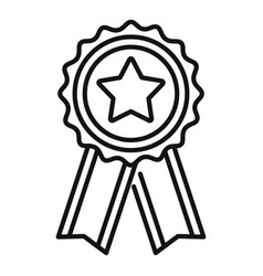 mission completed emblem icon outline style vector image